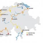 Tour de Suisse map 2014