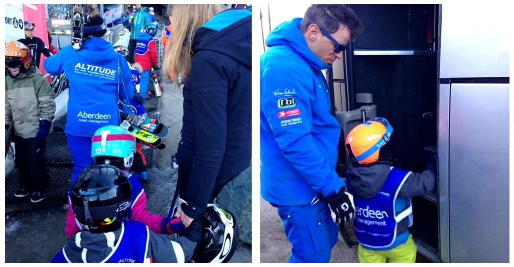 Children ski lesson