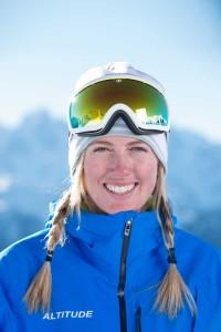 Ski instructor Verbier Tess Lawson