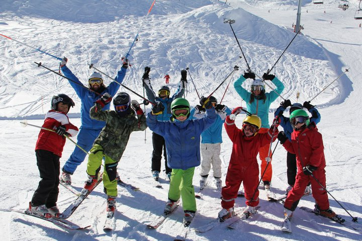 ski children groups lesson