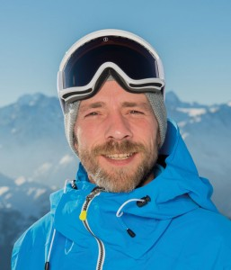 Snowboard instructor Vincent Denaud