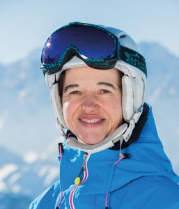 Ski instructor Martine Corsand
