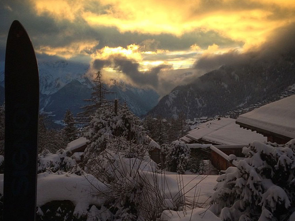 fresh snow in Verbier