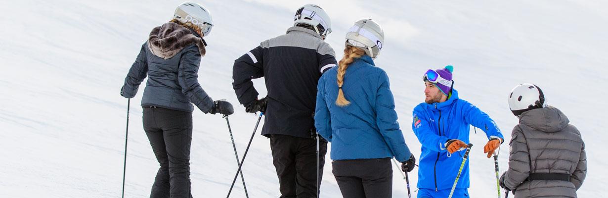 group ski lesson verbier