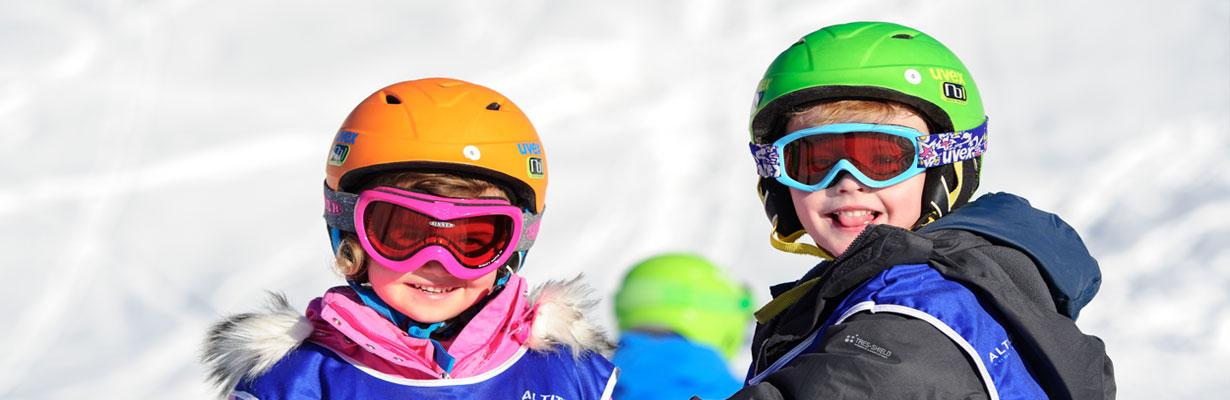 children's ski lessons kids garden