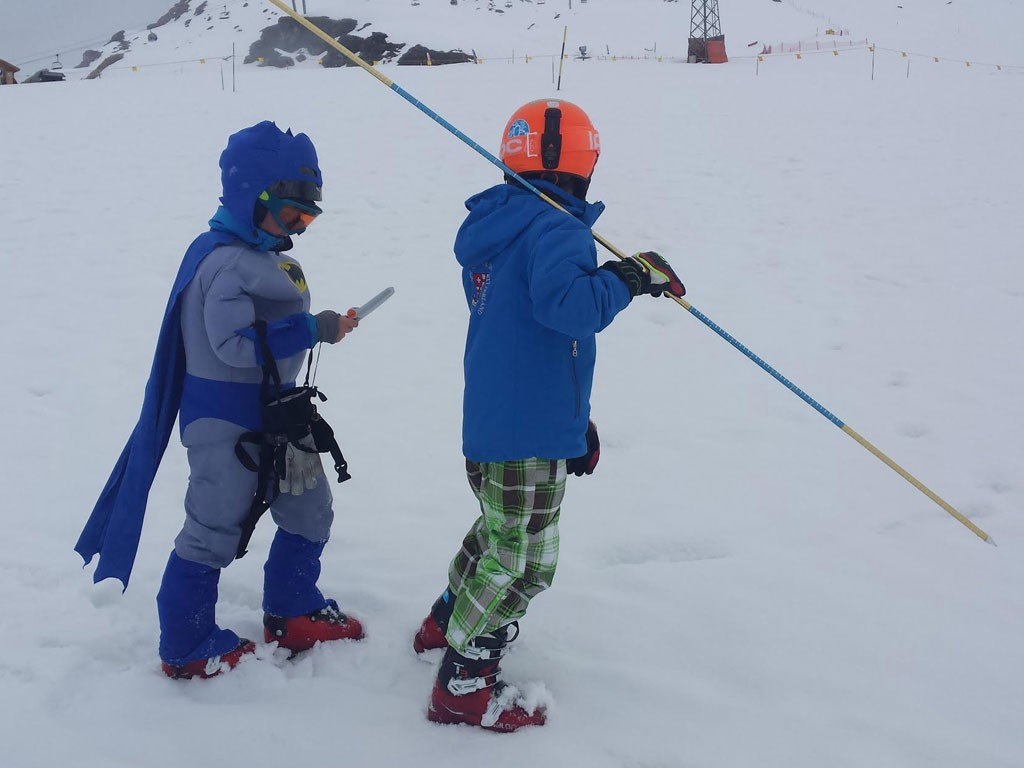 Avalanche training enfants