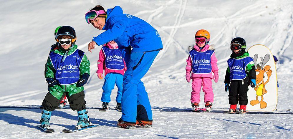 kidsgarden verbier ski lesson