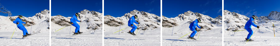 Balance training skiing Verbier